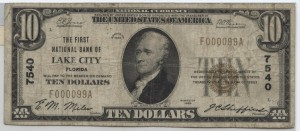 1929 Type 1 $10 Note Charter #7540