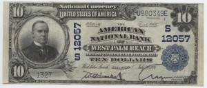 1902 Plain Back $10 Note Charter #12057