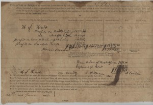 "1863-1864 Employee Income Tax Statement for W.S. Hart under ""An Act to Lay Taxes for the Common Defense and Carry on the Government of the Confederate States"""