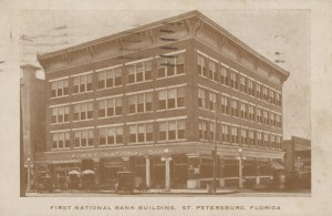 First National Bank different location Post Card