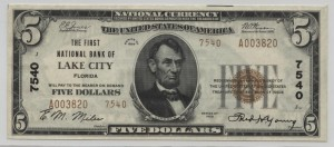 1929 Type 2 $5 Note Charter #7540