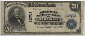 1902 Plain Back $20 Note Charter #12751