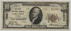 1929 Type 2 $10 Note Charter #7540