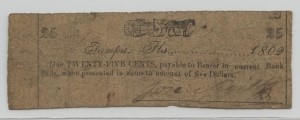 1862 25 Cent Note