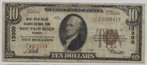 1929 Type 1 $10 Note Charter #13300