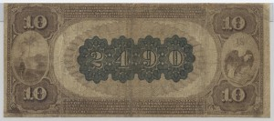 1882 Brown Back $10 Note Charter #2490