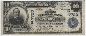 1902  plain Back $10 Note Charter #7730