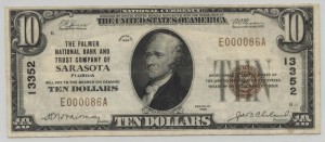 1929 Type 1 $10 Note Charter #13352