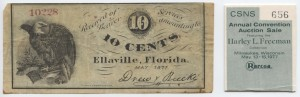 May 1871 10 Cent Note from Harley L. Freeman Collection