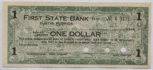 1933 First State Bank $1