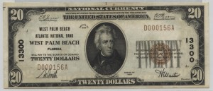 1929 Type 1 $20 Note Charter #13300