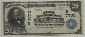 1902 Plain Back $20 Note Charter #7730