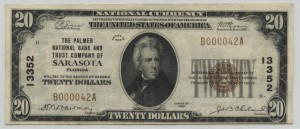 1929 Type 1 $20 Note Charter #13352