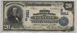 1902 Plain Back $20 Note Charter #9811