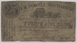 1862 Stage Coach Variety 25 Cent Note