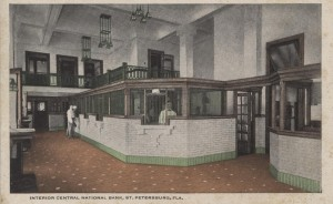 Interior of The Central National Bank Post Card