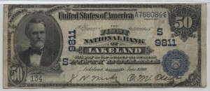 1902 Plain Back $50 Note Charter #9811