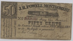 January 15, 1862 Stage Coach Variety 50 Cent Note