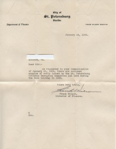 1935 Letter of enclosed sample scrip by the St. Petersburg Citizens Emergency Committee