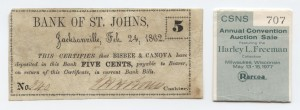 Feb. 24, 1862 .5 Cent Note from Harley L. Freeman Collection
