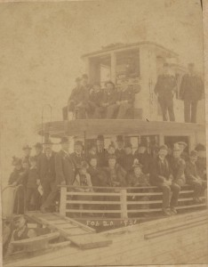 The Okeehumkee Steamboat actual photo from Feb 20, 1893 (1 of Hart's 2 Steamboats)