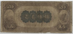 1882 Brown Back $20 Note Charter #2490