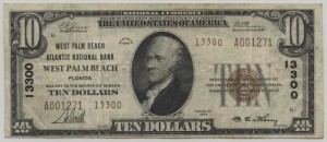 1929 Type 2 $10 Note Charter #13300