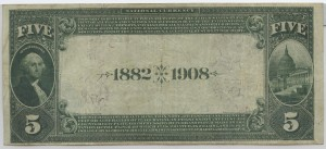 1882 Date Back $5 Note Charter #S2490