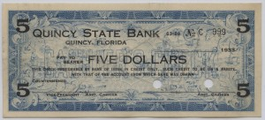 1933 Quincy State Bank $5