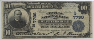 1902 Plain Back $10 Note Charter #7796