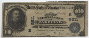1902 Plain Back $100 Note Charter #9811