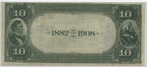 1882 Date Back $10 Note Charter #S2490