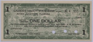 1933 Gadsden County State Bank $1