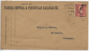 1896 Jacksonville Florida Central & Peninsular Railroad Co.