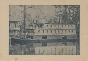 The Okeehumkee which was one of two of Hart's Steam Boats