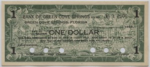 1933 Bank of Green Cove Springs $1