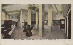 Interior View of the Central National Bank & Trust Co. Post Card