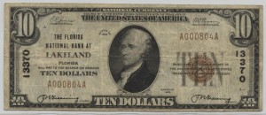 1929 Type 1 $10 Note Charter #13370