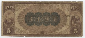 1882 Brown back $5 Note Charter #3497