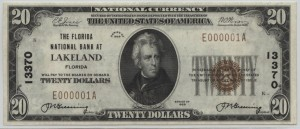 1929 Type 1 $20 Note Charter #13370