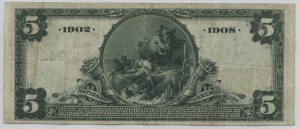 1902 Date Back $5 Note Charter #3497