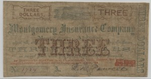 1862 Stage Coach $3 Note