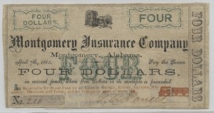 1862 Stage Coach $4 Note