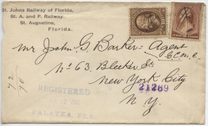 1886 Palatka St. Johns Railway of Florida