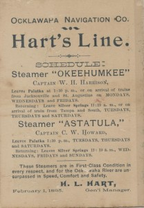 Schedule and Time ad of Hart's Daily Line
