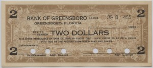 1933 Bank of Greensboro $2