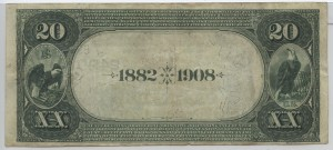 1882 Date Back $20 Note Charter #S2490