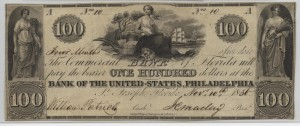 1836 $100 Note Signed William Patrick, Cash. and J.C. Maclay, Pres.