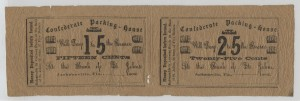 1862 Partial Remainder Sheet of a .15 cent Note & .25 Cent Note