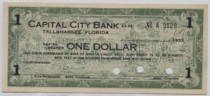 1933 Capital City Bank $1